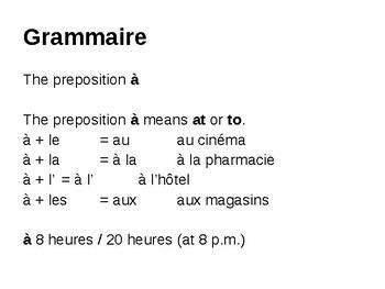 The preposition à