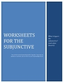 The present of Subjunctive worksheets - Practicing when to use el subjuntivo