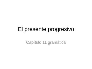 The present progressive lesson- PPT