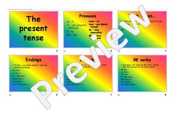 The present tense in French
