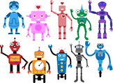 The robots Digital Clip Art Graphics 10 images cod18