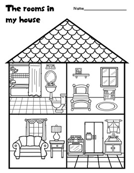 The rooms in my house by Learning Fun for early elementary ...