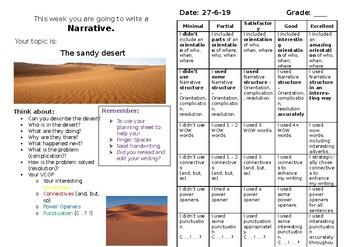 The sandy desert - Big Write stimulus NARRATIVE