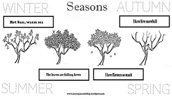 The seasons,  cut and glue activities
