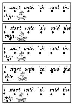 The 'sh' diagraph mini book