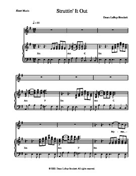 """The sheet music for """"Butterflies"""" - A musical play or screen play"""
