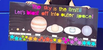 The sky is the limit space display poster (planets included)