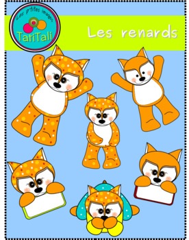 The small foxes; clip art -  Les p'tits renards: clip arts