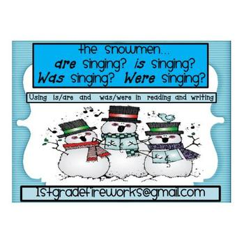 """The snowman  """"is, are, was, were"""" singing?"""