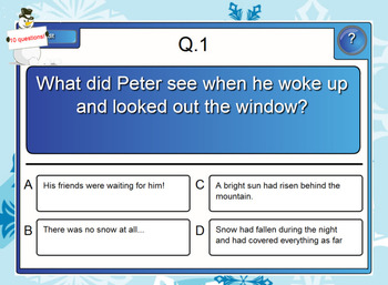 The snowy day- Smart Board activities