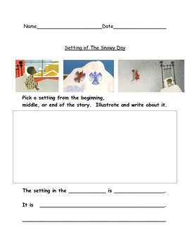 The snowy day- kindergarten readygen unit 3a writing papers