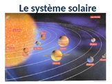 The solar system in french