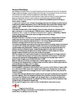 The story of Saint George 23 April Patron Saint of England