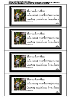 The teacher effect: a special bookmark for special teachers