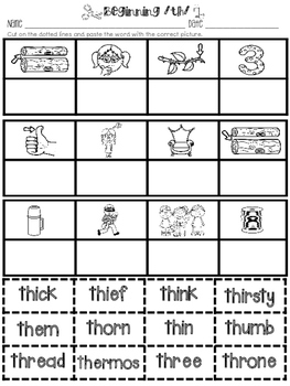 The /th/ Digraph - Lesson Plans and Activities - Orton-Gillingham & Common Core