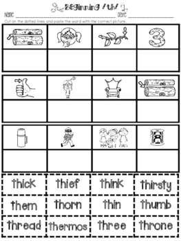 All About th, sh, ch - Letters, Sounds, and Word Work for Digraphs