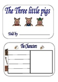 Literacy, The Three Little Pigs-(RL 1.3 Common Core Standards)