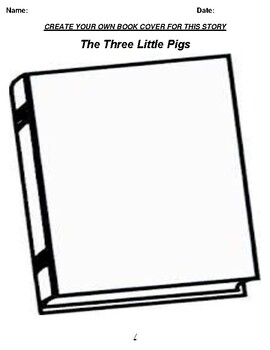 The three little pigs Book Cover Worksheet