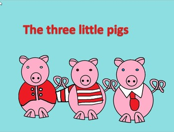 The three little pigs. The story in song with simple instruments