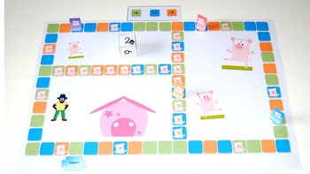 The three little pigs : a game to learn counting