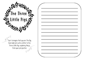 The three little pigs printable template