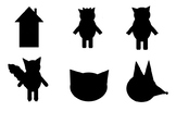 The three little pigs silhouette matching