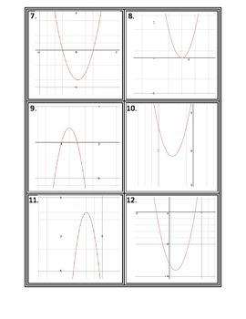 Quadratic Equations Matching Cards