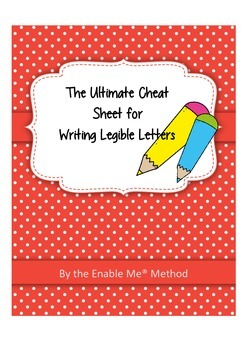The ultimate cheat sheet for writing legible letters