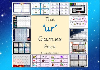 The 'ur' Phonics Games Pack