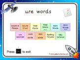 The 'ure' Phonics PowerPoint