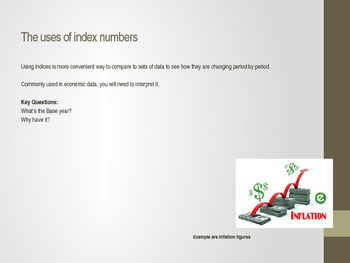 The uses of index numbers