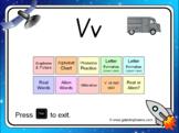 The letter 'v' PowerPoint