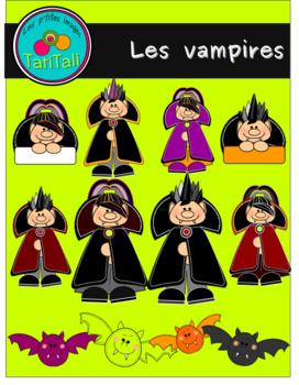 The vampires: Cliparts  (Les vampires:  ensemble de clip arts)