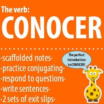 Spanish 1 - The verb: CONOCER - Intro, Practice, Respond, Write!
