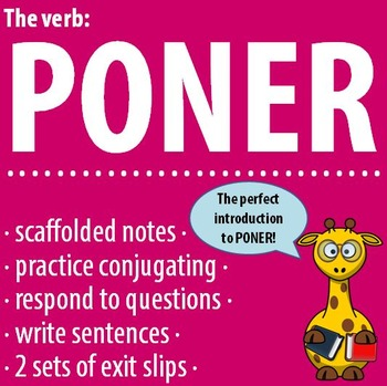 The verb: PONER - Intro, Practice, Respond, Write!