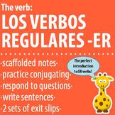 Spanish 1 - The verb: REGULAR -ER VERBS - Intro, Practice, Respond, Write!