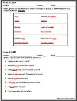 The verb: SABER - Intro, Practice, Respond, Write!