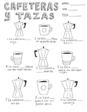 Spanish verb SER ~fill in the blanks worksheet and coloring sheet ~SER ~tazas