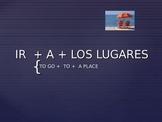 "The verb ""ir"" in Spanish. Ir + a + place."