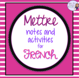French verb mettre in the present tense