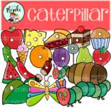 Caterpillar Clip Art. La oruga. Butterfly Life Cycle.