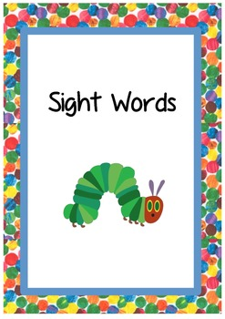 The very hungry caterpillar binder covers