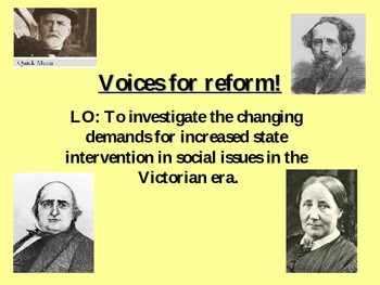 Activists for social reform in Victorian England. Poverty