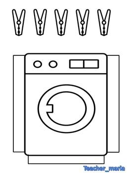 The washing mashine.