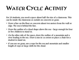 The water cycle – an experiential learning activity