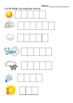 The weather cut and stick worksheet