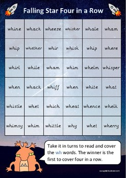 The 'wh' Phonics Games Pack