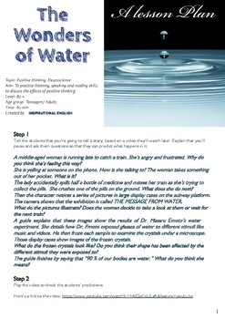 The wonders of water- Lesson plan