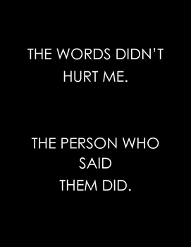 The words didn't hurt me poster