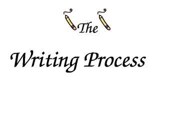 The writing process chart